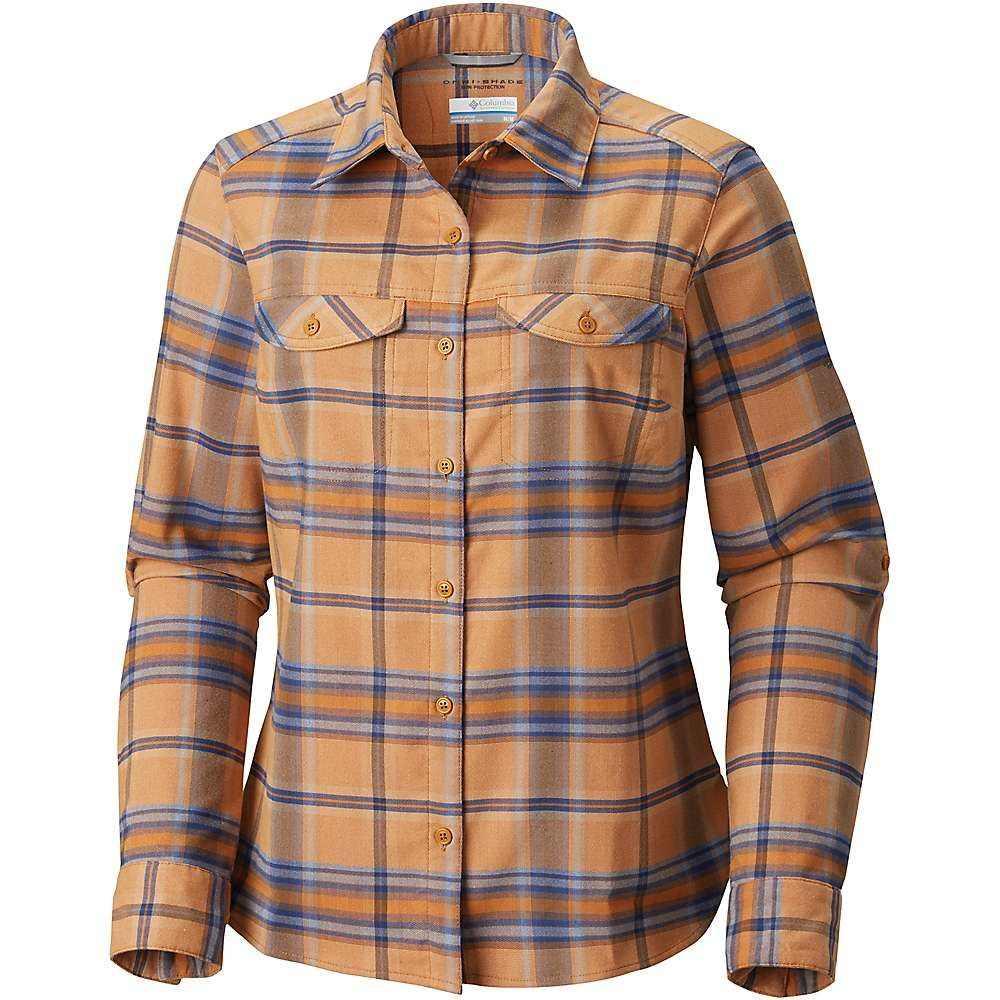 コロンビア Columbia レディース ハイキング・登山 トップス【Silver Ridge LS Flannel Shirt】Canyon Gold Ombre Window Plaid