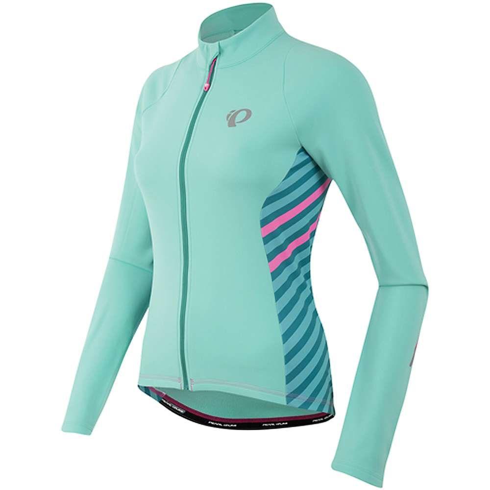 パールイズミ Pearl Izumi レディース 自転車 トップス【SELECT Pursuit Thermal Jersey】Aqua Mint Stripe