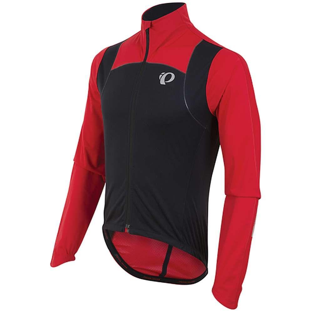 パールイズミ Pearl Izumi メンズ 自転車 アウター【P.R.O. Pursuit Wind Jacket】Black / True Red