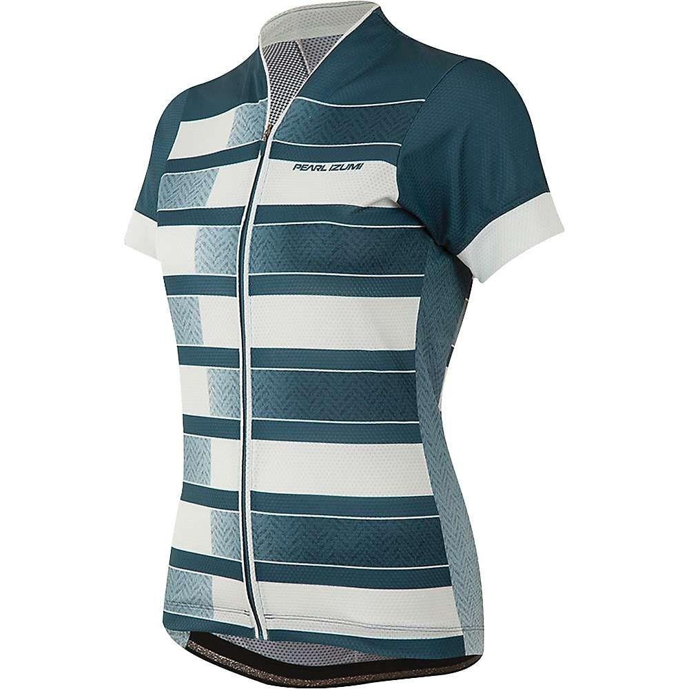 パールイズミ Pearl Izumi レディース 自転車 トップス【MTB LTD Jersey】Blue Steel Herringbone Stripe