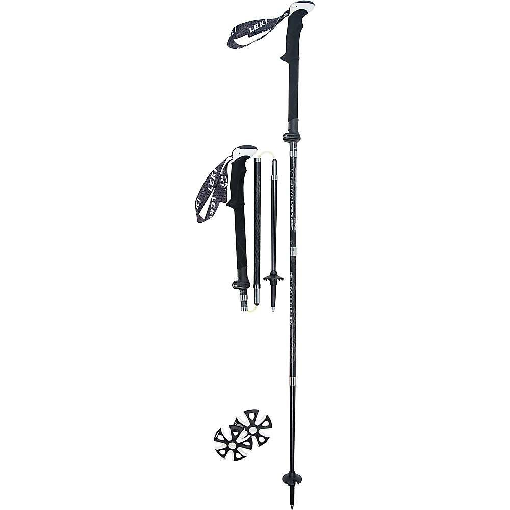 レキ Leki ユニセックス ハイキング・登山【Micro Vario Carbon Max Trekking Pole】Black