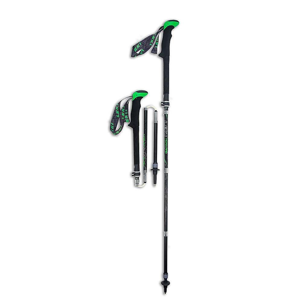 レキ Leki ユニセックス ハイキング・登山【Micro Vario Carbon DSS Trekking Poles】Black / Green