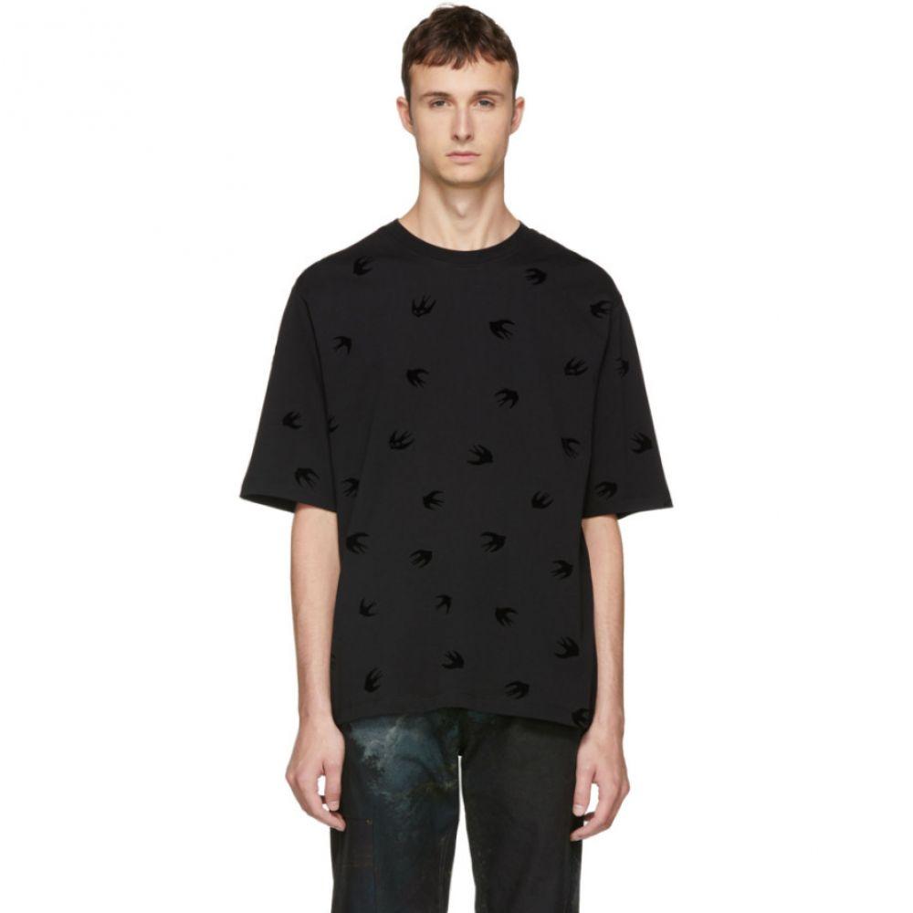 アレキサンダー マックイーン メンズ トップス Tシャツ【Black Mini Swallow T-Shirt】