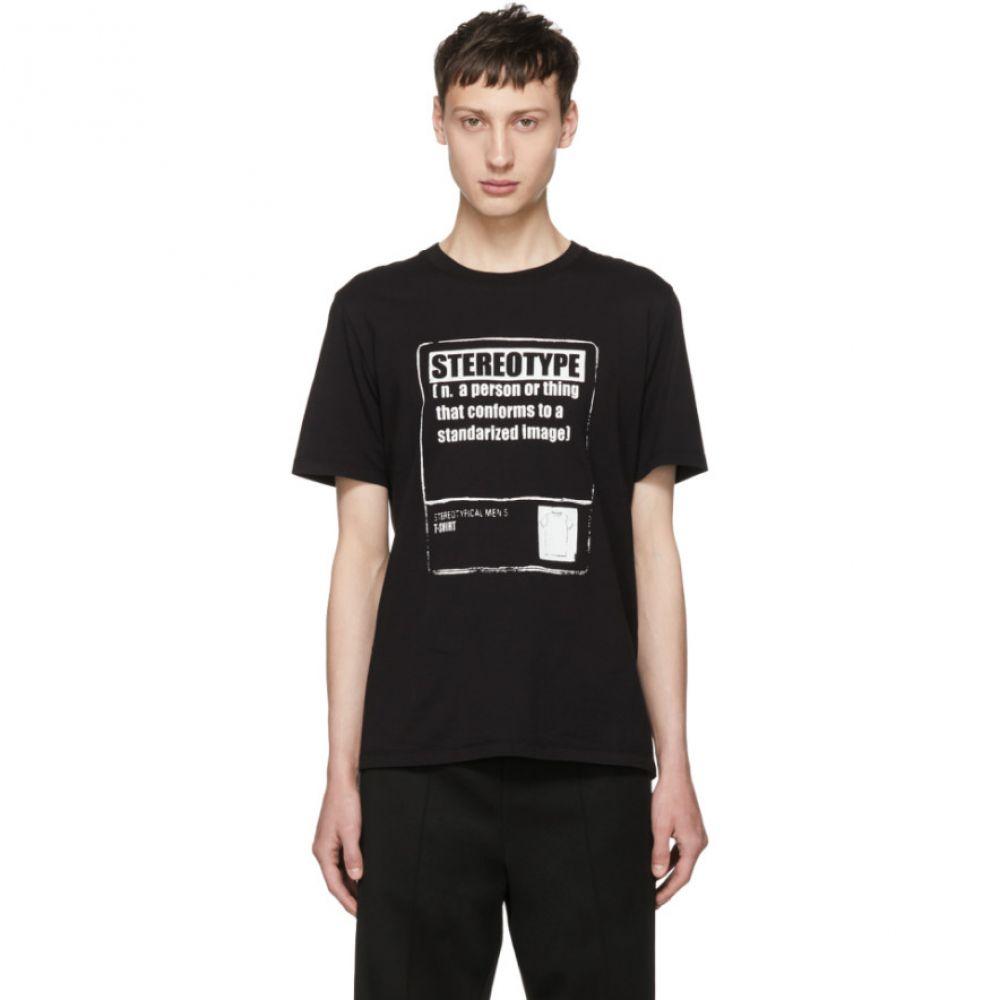 激安単価で メゾン マルジェラ メンズ トップス Tシャツ【Black 'Stereotype' T-Shirt】, プエル b3c4c7c0
