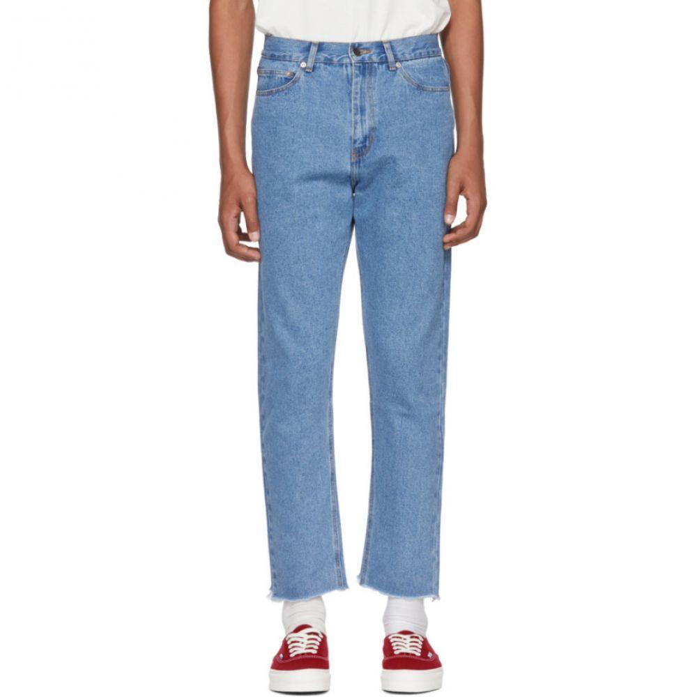 セカンド レイヤー メンズ ボトムス・パンツ ジーンズ・デニム【Blue Raw Hem Jeans】