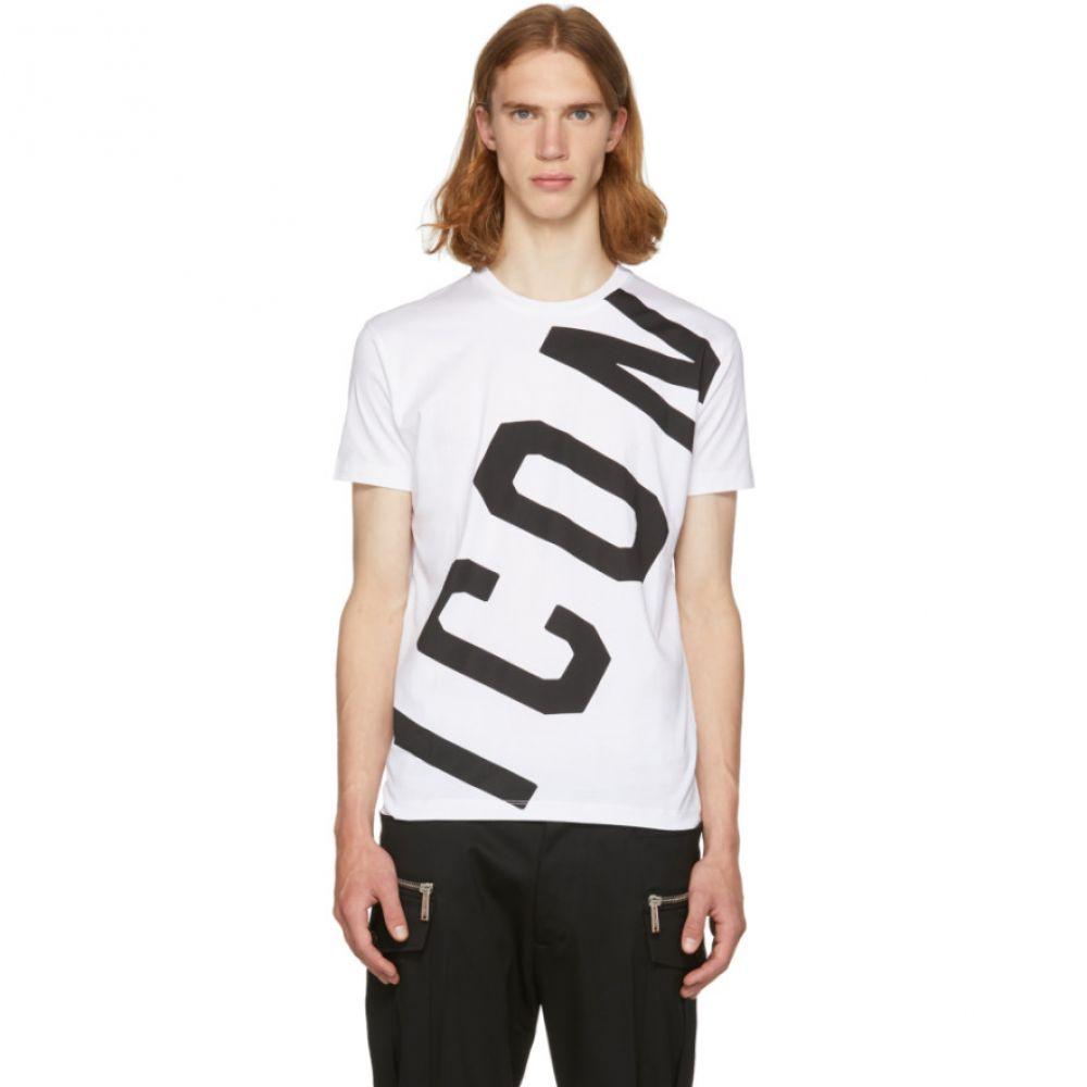 ディースクエアード メンズ トップス Tシャツ【White Big 'Icon' T-Shirt】