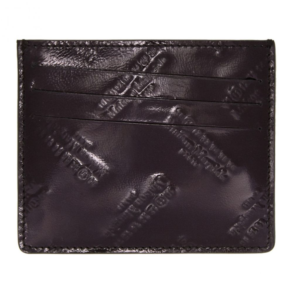 メゾン マルジェラ メンズ カードケース・名刺入れ【Black All Over Logo Card Holder】