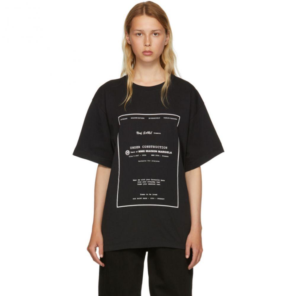 メゾン マルジェラ レディース トップス Tシャツ【Black Basic Jersey T-Shirt】