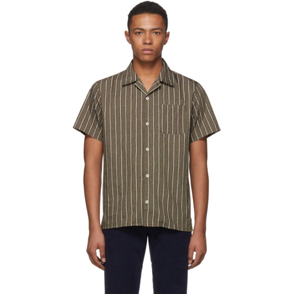 アーペーセー メンズ トップス シャツ【Brown & White Patterned Shirt】