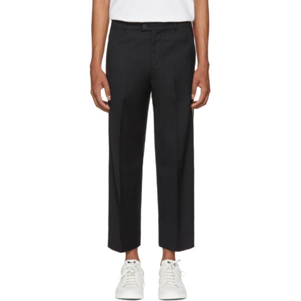 アダプテーション メンズ ボトムス・パンツ【Black Tailored Side Stripe Trousers】