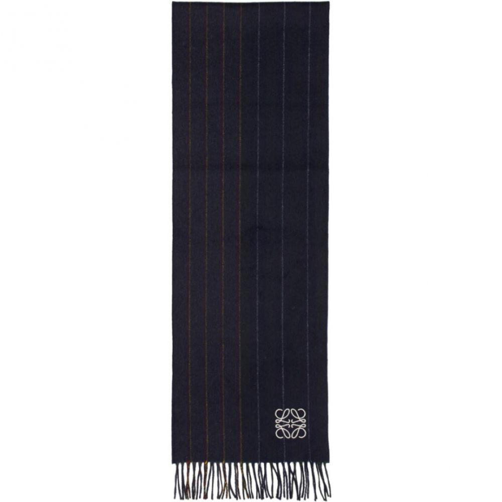 ロエベ メンズ マフラー・スカーフ・ストール【Navy Varsity Stripes Scarf】