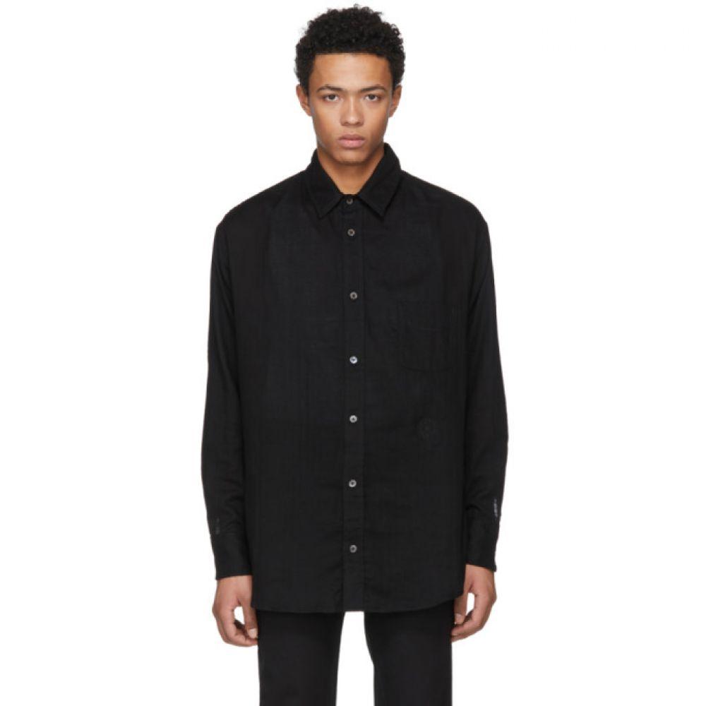ジ エルダー ステイトマン メンズ トップス シャツ【Black Cotton Shirt】