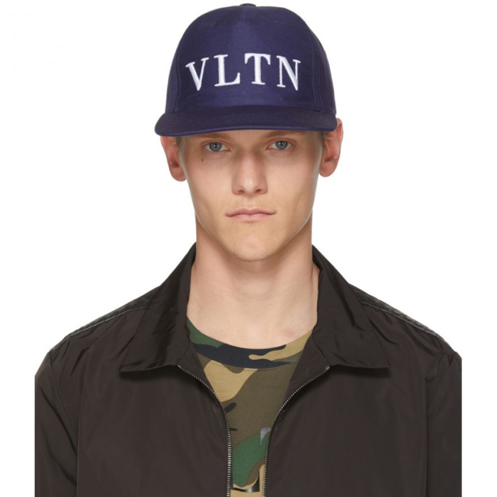 ヴァレンティノ メンズ 帽子 キャップ【Blue Valentino Garavani 'VLTN' Cap】