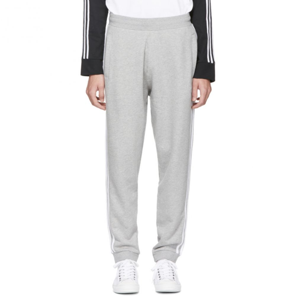 アディダス メンズ ボトムス・パンツ スウェット・ジャージ【Grey 3 Stripe Lounge Pants】
