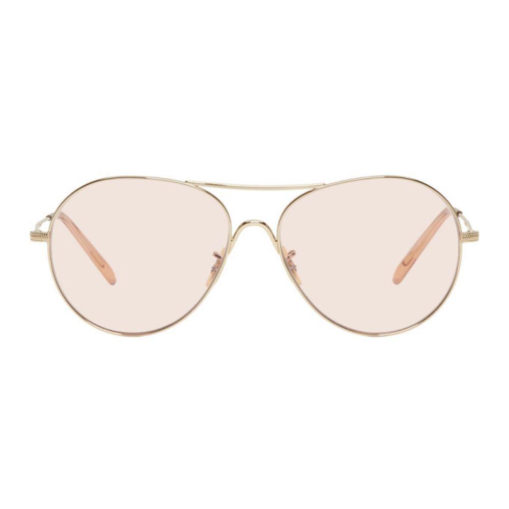 オリバーピープルズ メンズ メガネ・サングラス【Gold & Pink Rockmore Aviator Sunglasses】