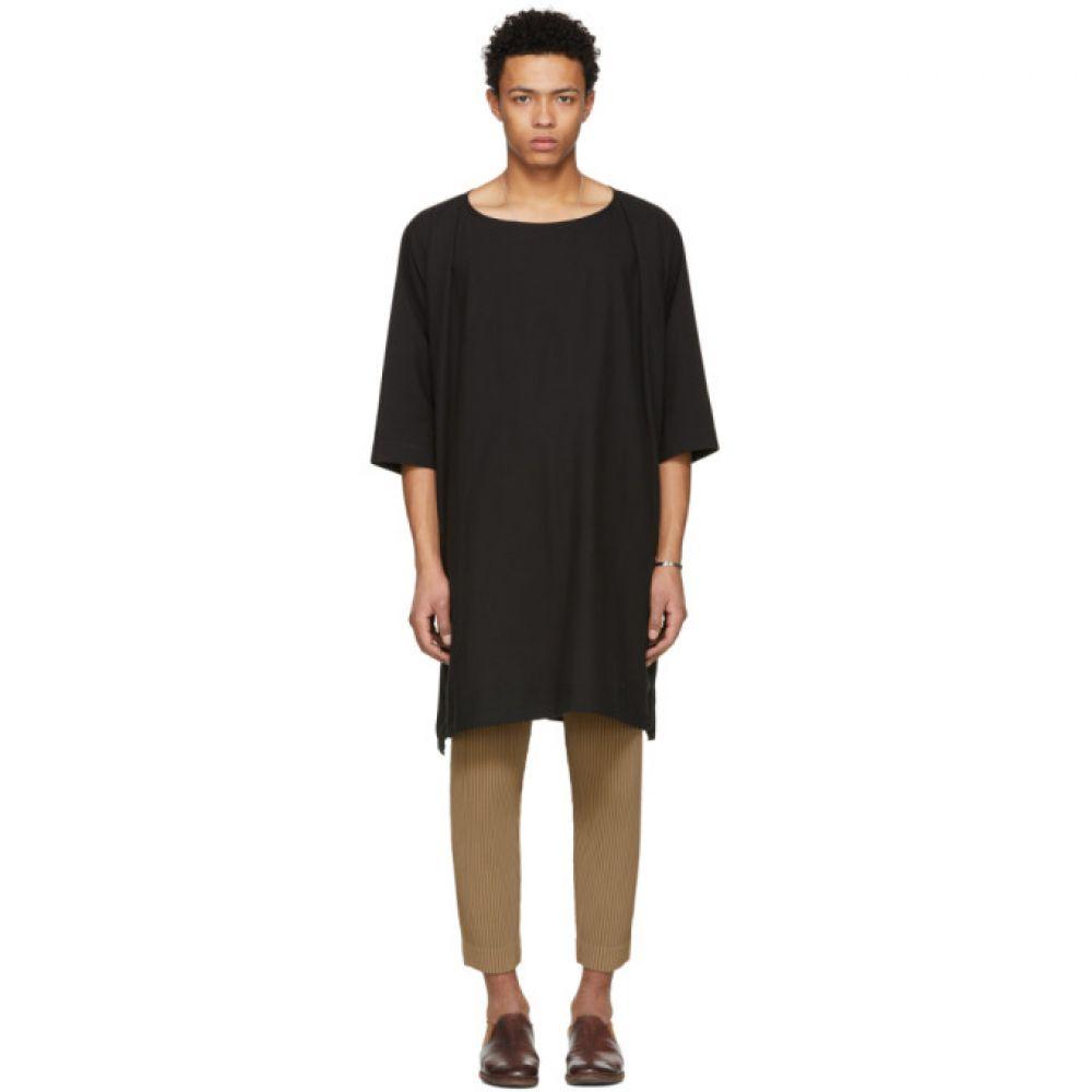ヤン ヤン ヴァン エシュ メンズ トップス Tシャツ【Black Long Woven T-Shirt】