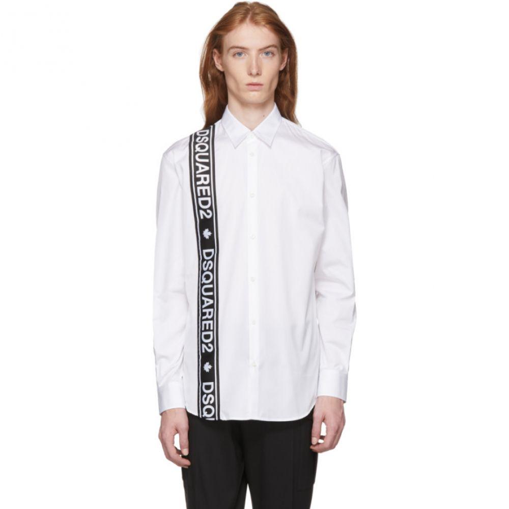 ディースクエアード メンズ トップス シャツ【White Logo Tape Shirt】