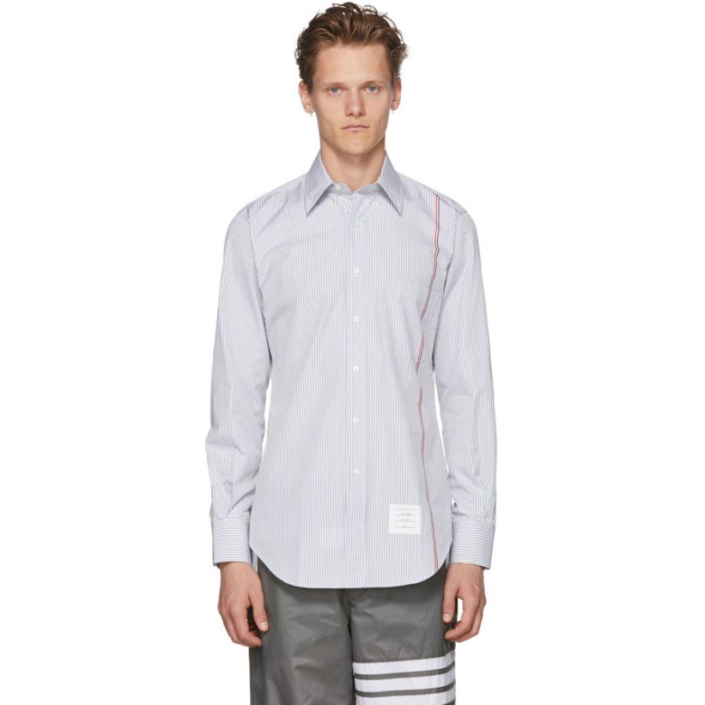トム ブラウン メンズ トップス シャツ【White & Grey Stripe University Shirt】