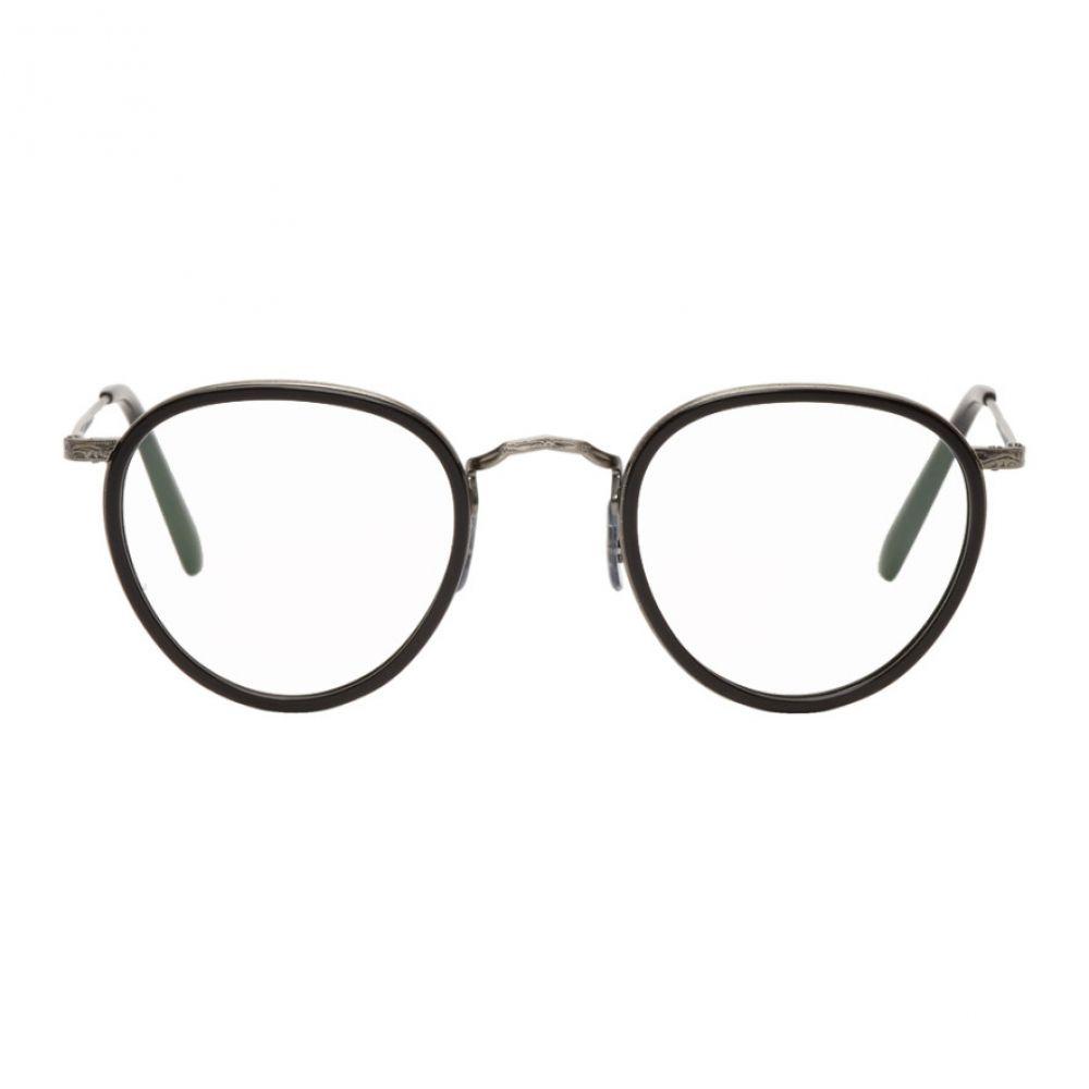オリバーピープルズ メンズ メガネ・サングラス【Black & Silver MP-2 Glasses】