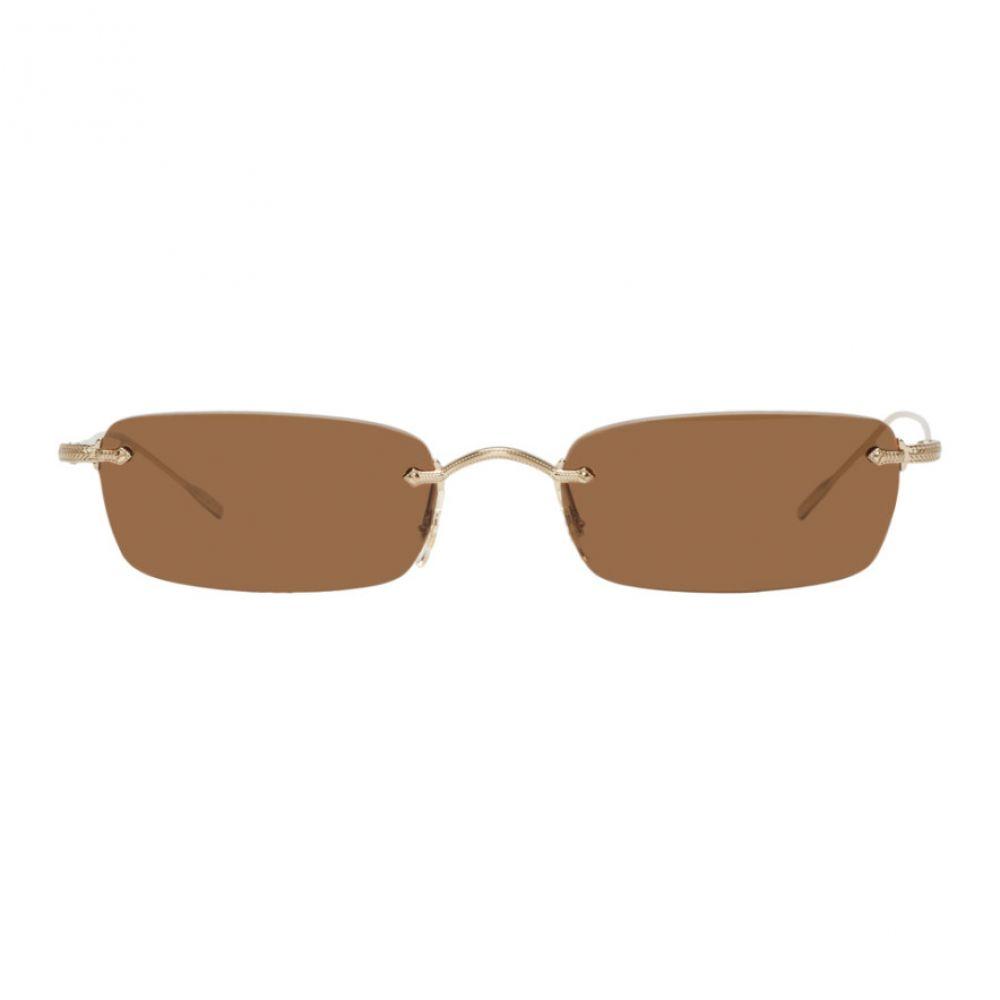 オリバーピープルズ メンズ メガネ・サングラス【Gold & Brown Daveigh Sunglasses】