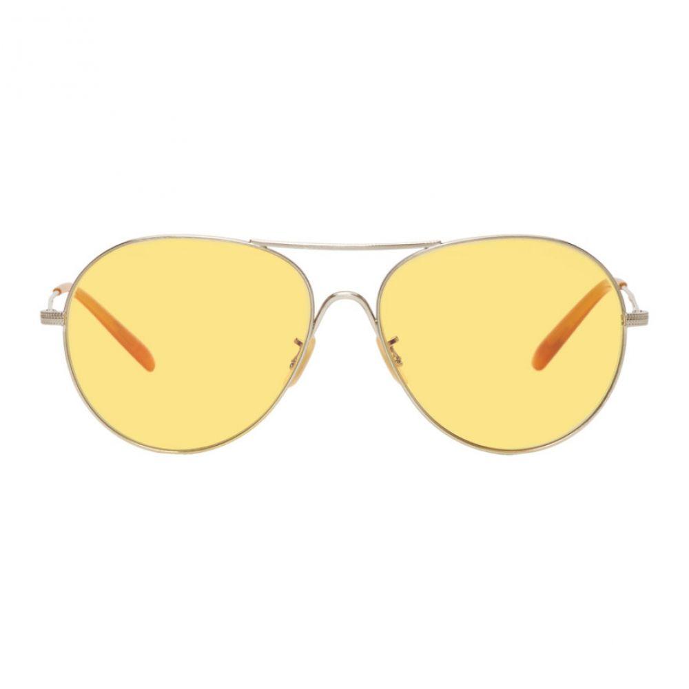 オリバーピープルズ メンズ メガネ・サングラス【Silver & Yellow Rockmore Aviator Sunglasses】