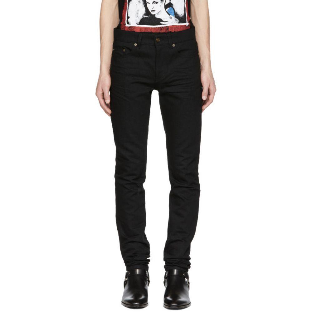 イヴ サンローラン メンズ ボトムス・パンツ ジーンズ・デニム【Black Low-Waisted Skinny Jeans】