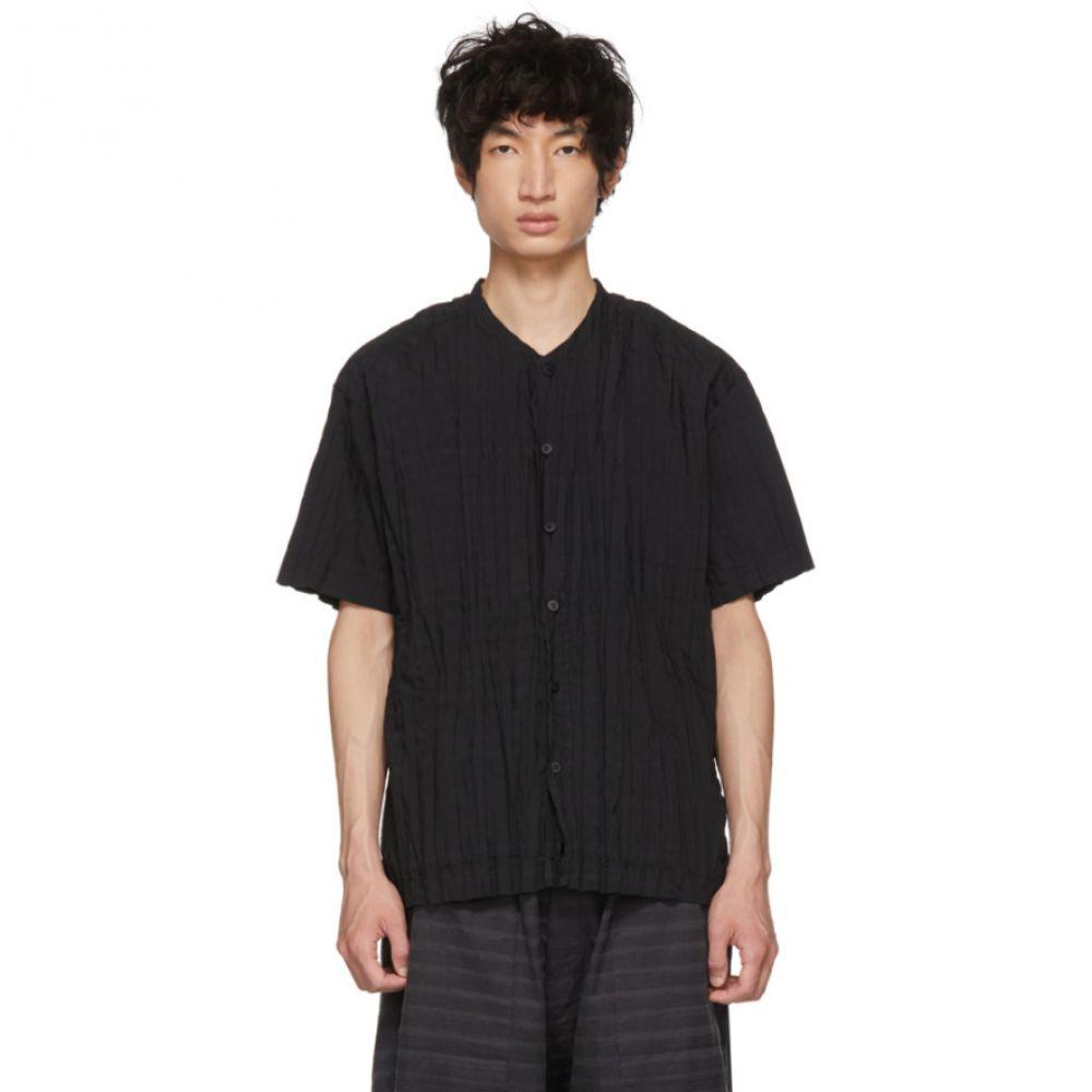 イッセイ ミヤケ メンズ トップス シャツ【Black Torus Pleated Shirt】