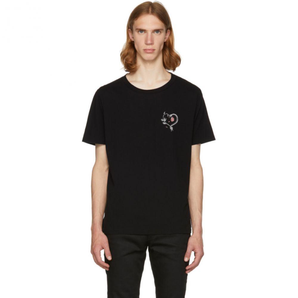 イヴ サンローラン メンズ トップス Tシャツ【Black Snake Heart T-Shirt】