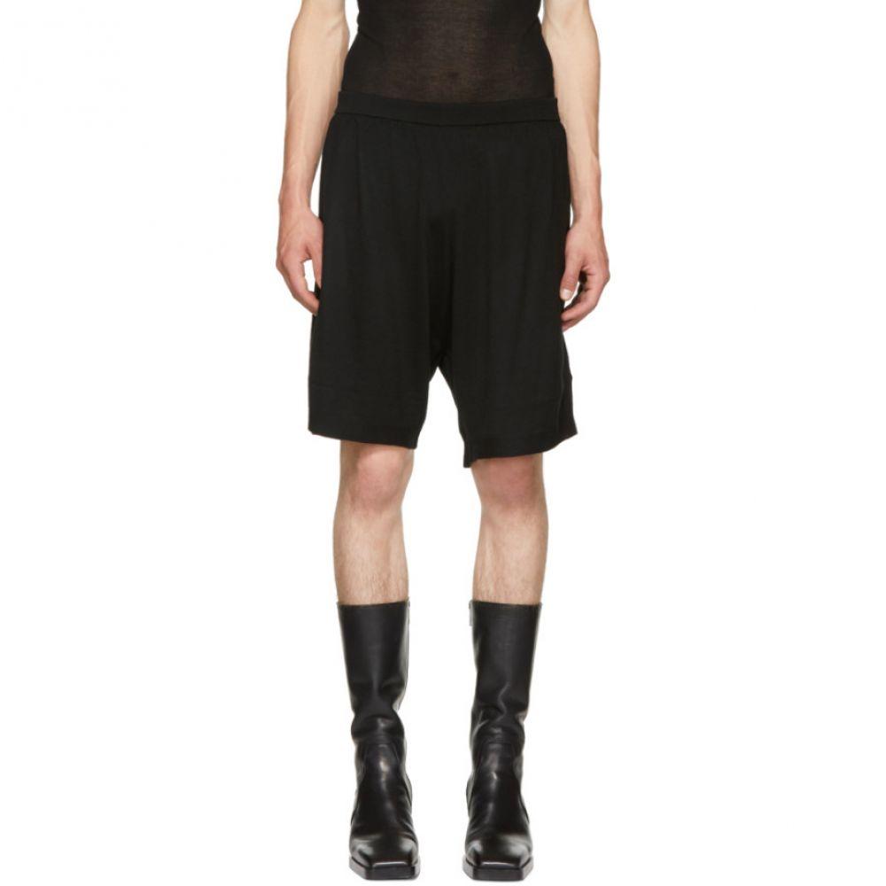 リック オウエンス メンズ ボトムス・パンツ ショートパンツ【Black Merino Boxer Shorts】