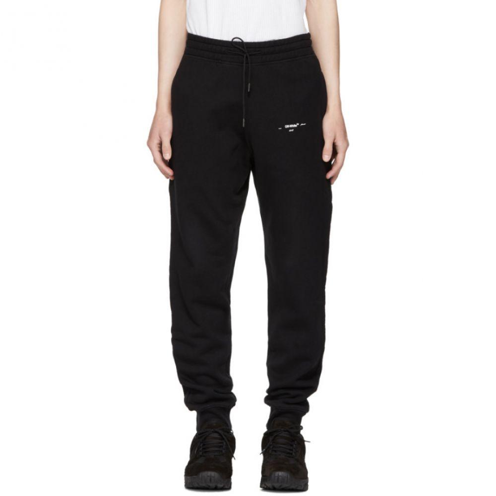 オフ-ホワイト メンズ ボトムス・パンツ スウェット・ジャージ【Black Diagonal Marker Arrows Lounge Pants】
