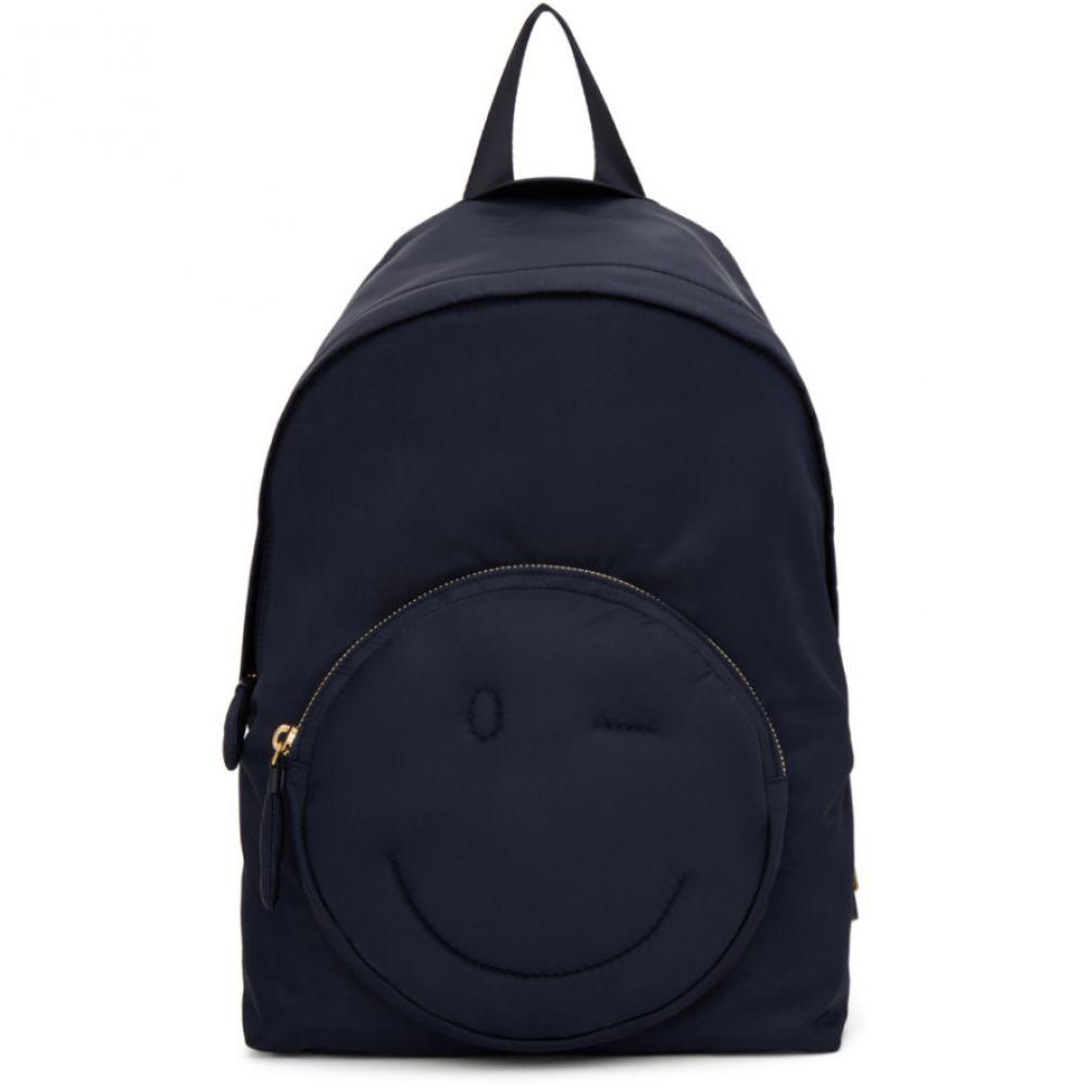アニヤ ハインドマーチ レディース バッグ バックパック・リュック【Navy Chubby Wink Backpack】