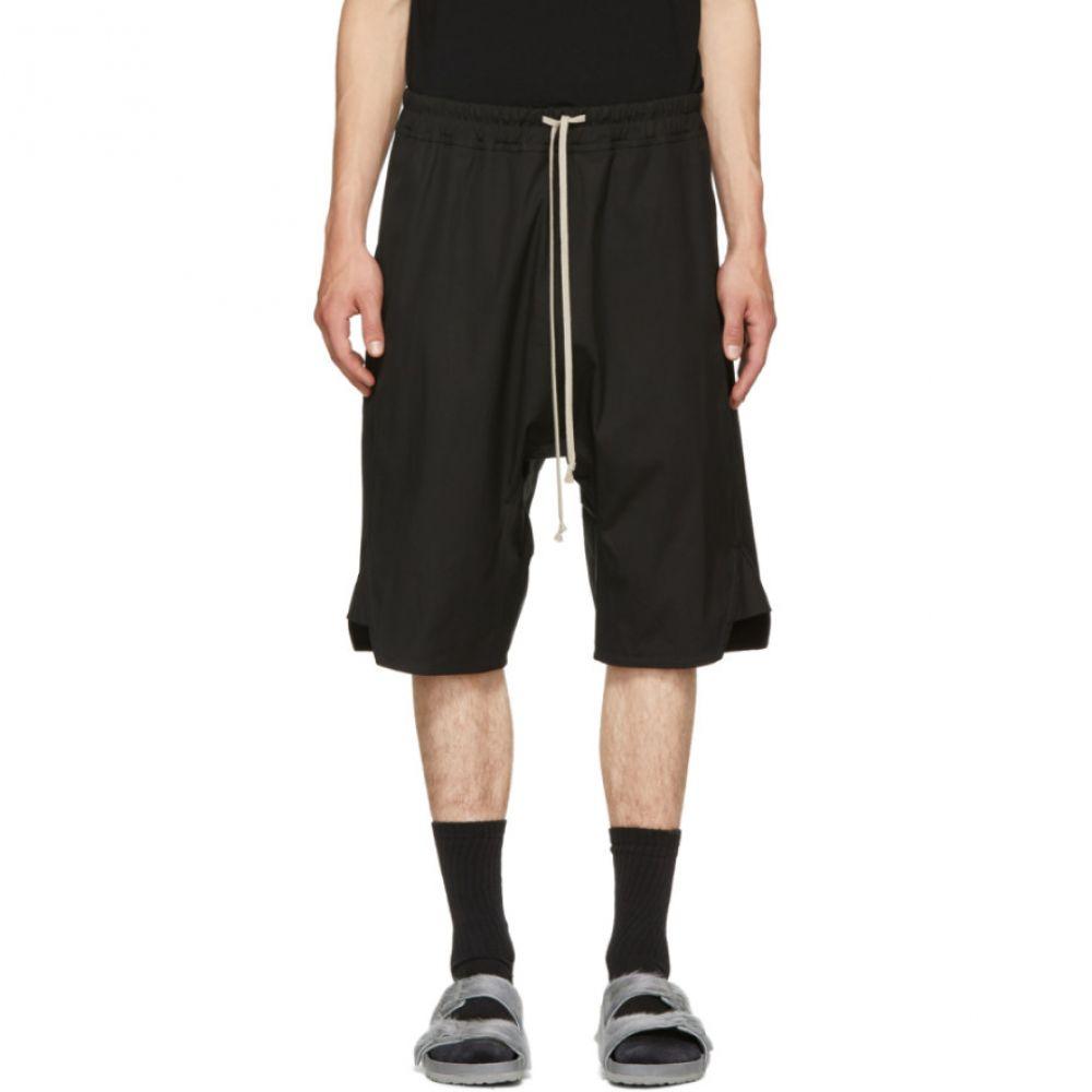 リック オウエンス メンズ ボトムス・パンツ ショートパンツ【Black Patagonia Basket Swinger Shorts】