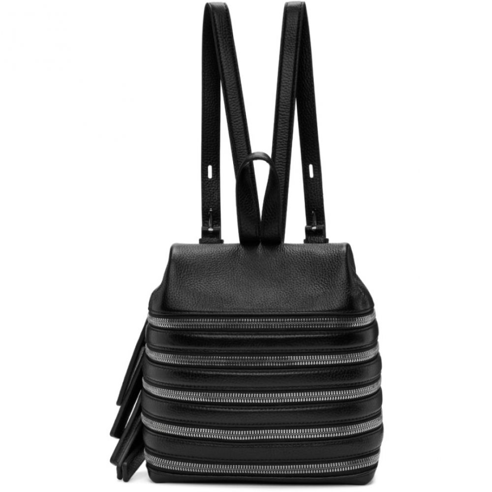 カラ レディース バッグ バックパック・リュック【Black Small Multi Zip Backpack】