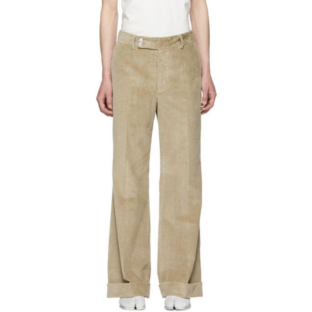 メゾン マルジェラ メンズ ボトムス・パンツ【Beige Corduroy Trousers】