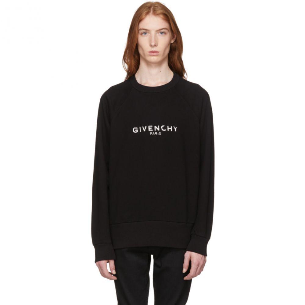 ジバンシー メンズ トップス スウェット・トレーナー【Black Vintage Fit Logo Sweatshirt】