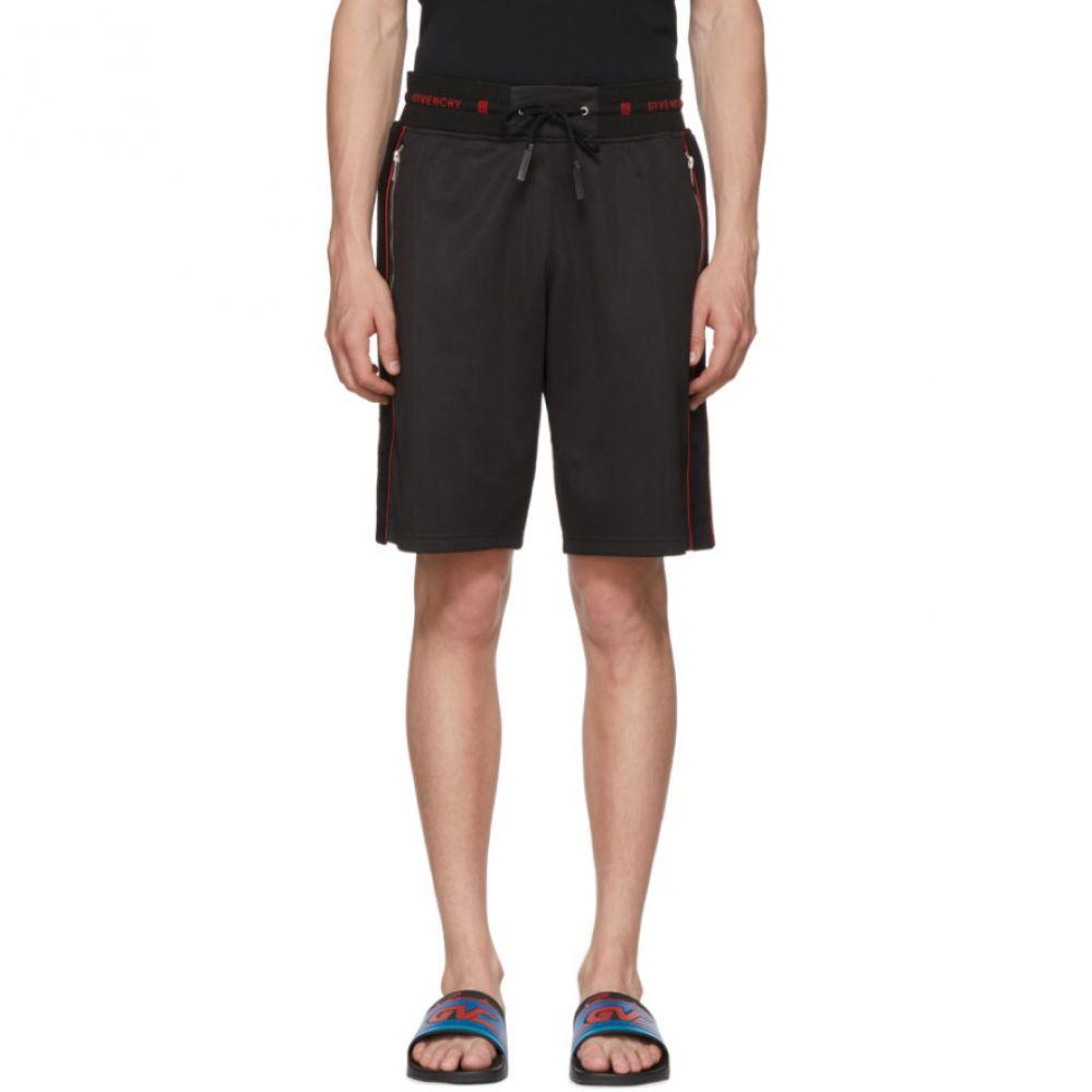 ジバンシー メンズ ボトムス・パンツ ショートパンツ【Black Sports Logo Bermuda Shorts】