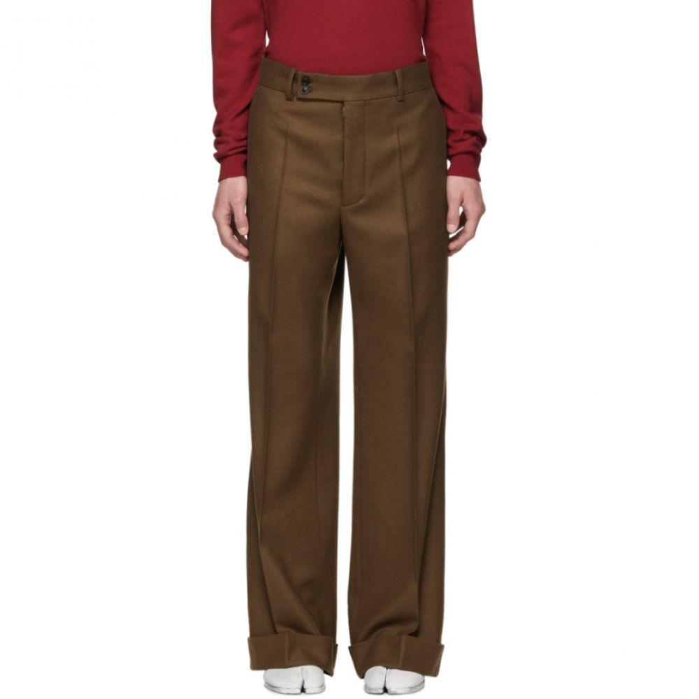 メゾン マルジェラ メンズ ボトムス・パンツ【Brown Wool Flannel Trousers】