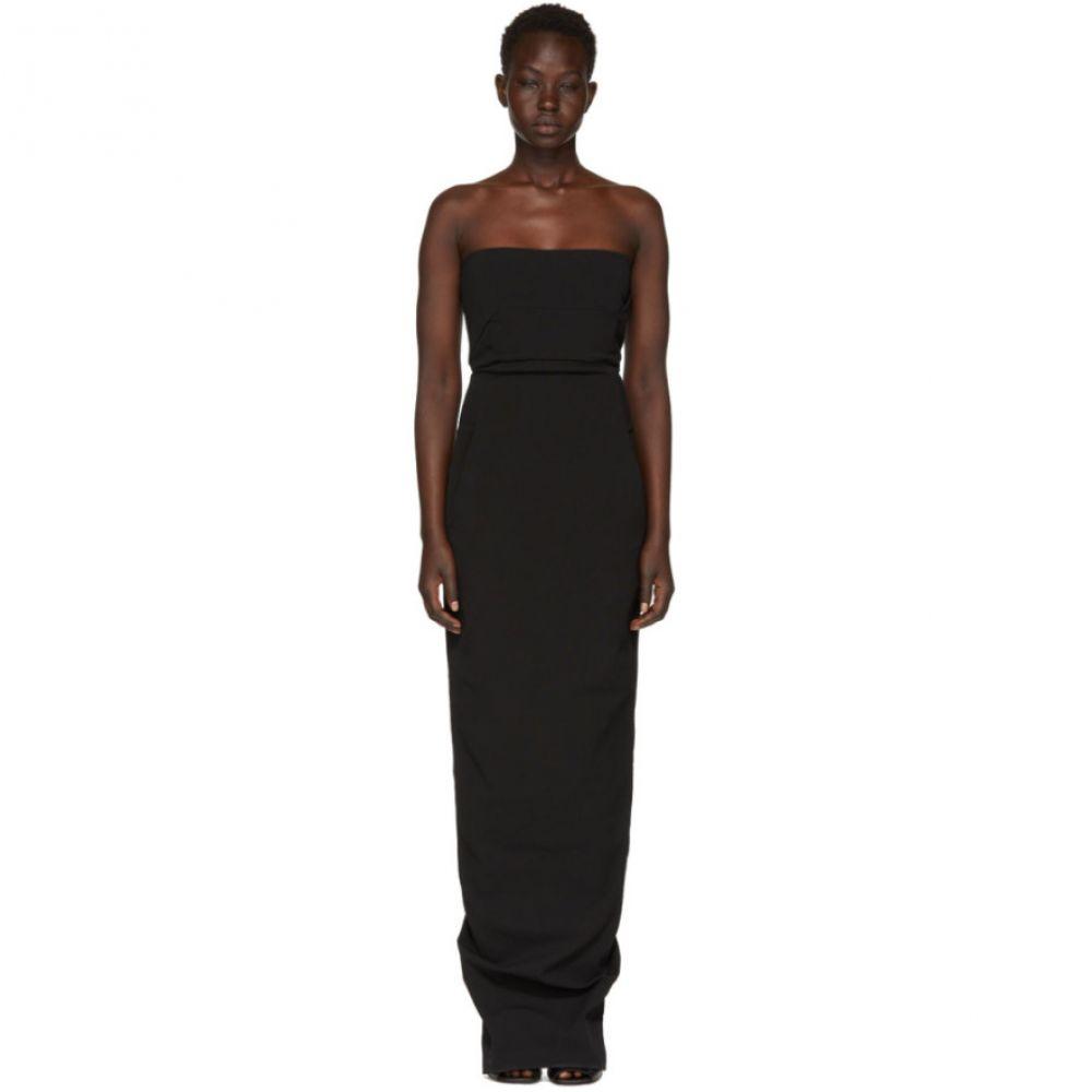 リック オウエンス レディース ワンピース・ドレス パーティードレス【Black Grosgrain Bustier Gown】