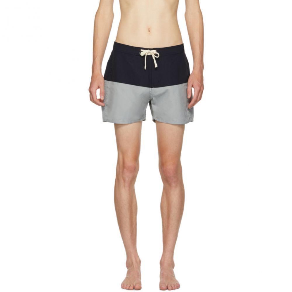 サタデーニューヨーク メンズ 水着・ビーチウェア 海パン【Blue Ennis Board Shorts】