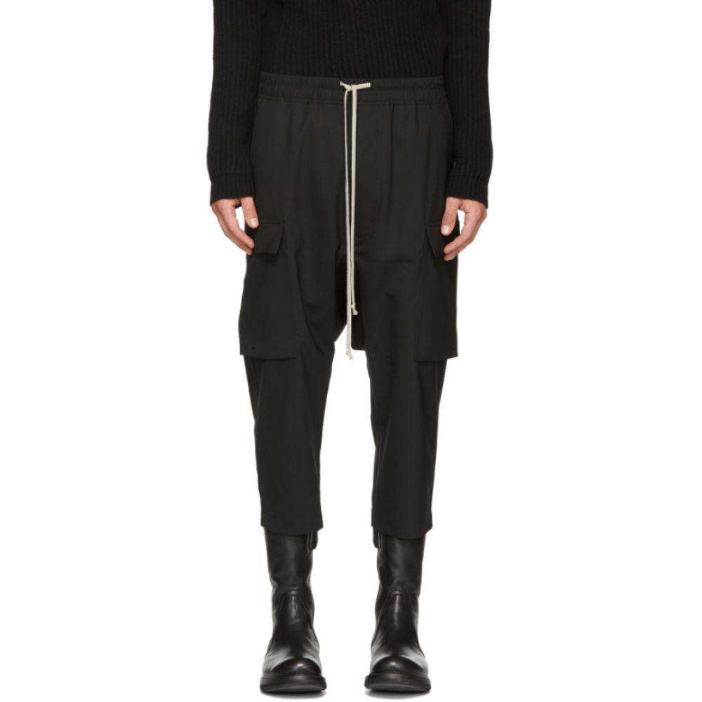 リック オウエンス メンズ ボトムス・パンツ カーゴパンツ【Black Cropped Cargo Pants】