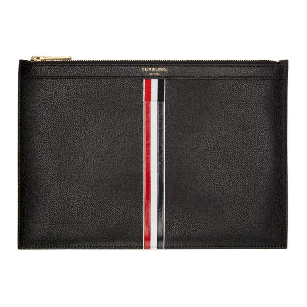 トム ブラウン メンズ タブレットケース【Black Small Tablet Holder】