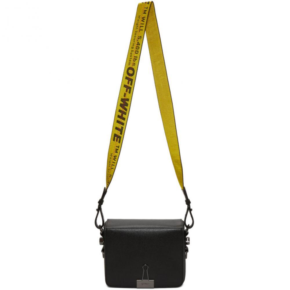 オフ-ホワイト レディース バッグ ショルダーバッグ【Black Binder Clip Flap Bag】