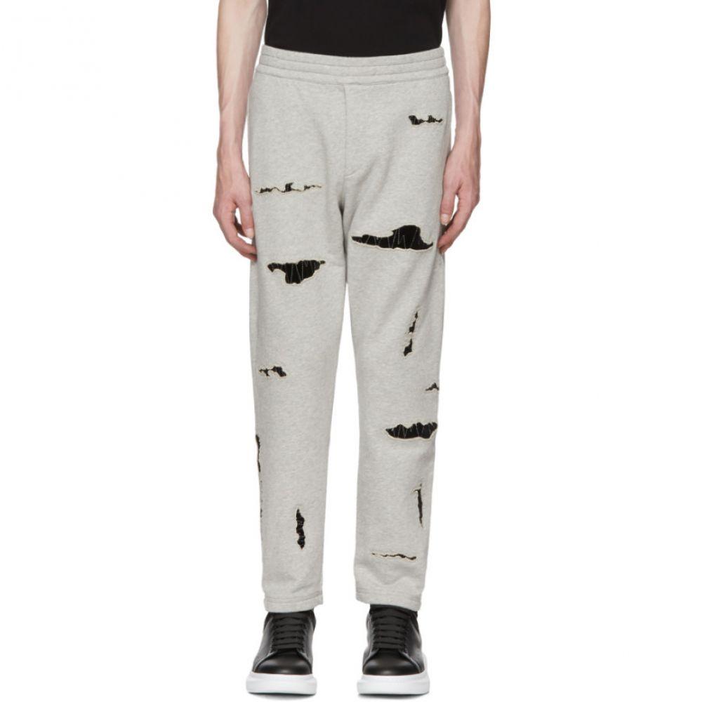 アレキサンダー マックイーン メンズ ボトムス・パンツ スウェット・ジャージ【Grey Organic Brushed Back Jersey Lounge Pants】