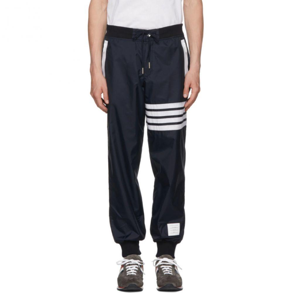 トム ブラウン メンズ ボトムス・パンツ スウェット・ジャージ【Navy Ripstop Lightweight Four Bar Lounge Pants】