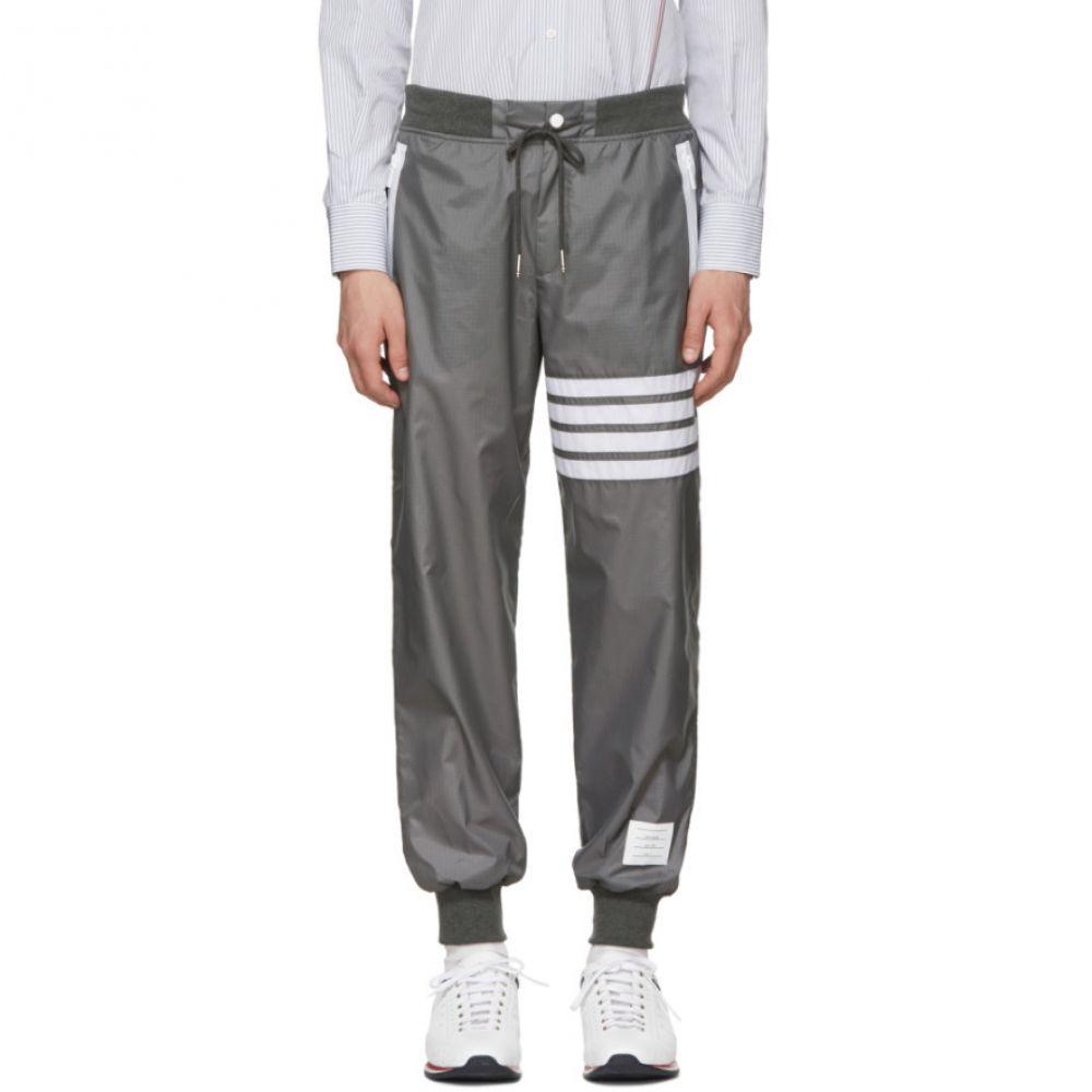 トム ブラウン メンズ ボトムス・パンツ スウェット・ジャージ【Grey Ripstop Lightweight Four Bar Lounge Pants】