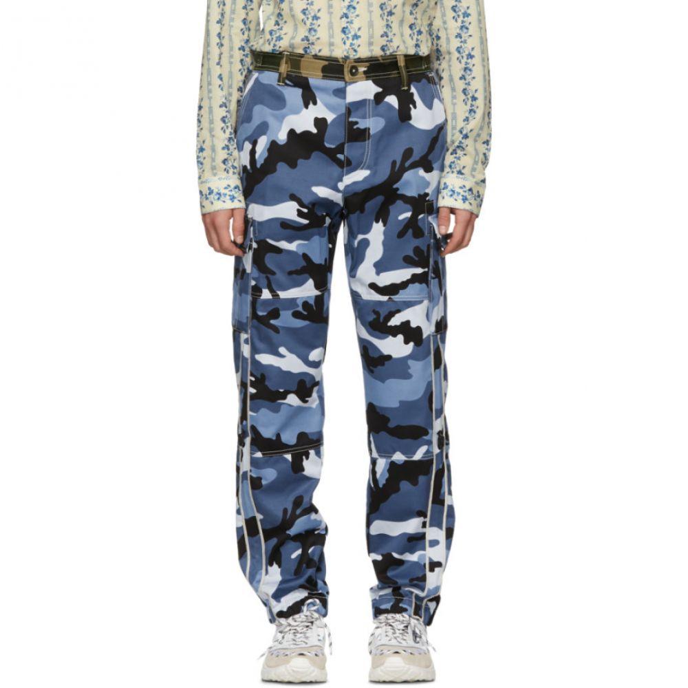 ヴァレンティノ メンズ ボトムス・パンツ カーゴパンツ【Blue Camouflage Cargo Trousers】