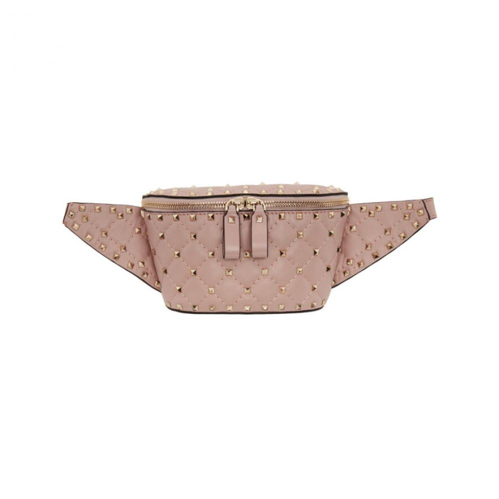 ヴァレンティノ レディース バッグ ボディバッグ・ウエストポーチ【Pink Valentino Garavani Rockstud Belt Bag】
