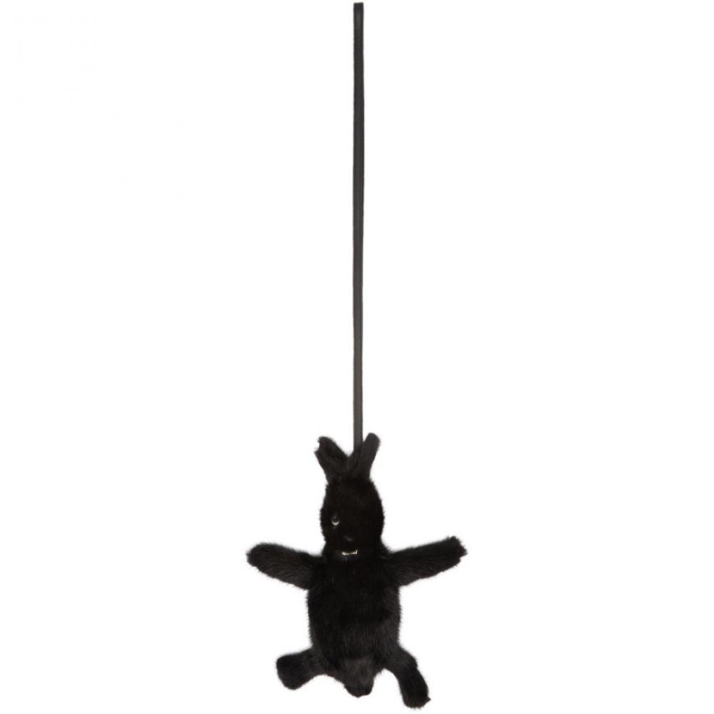 リック オウエンス メンズ ポーチ【Black Mink Bunny Pouch】