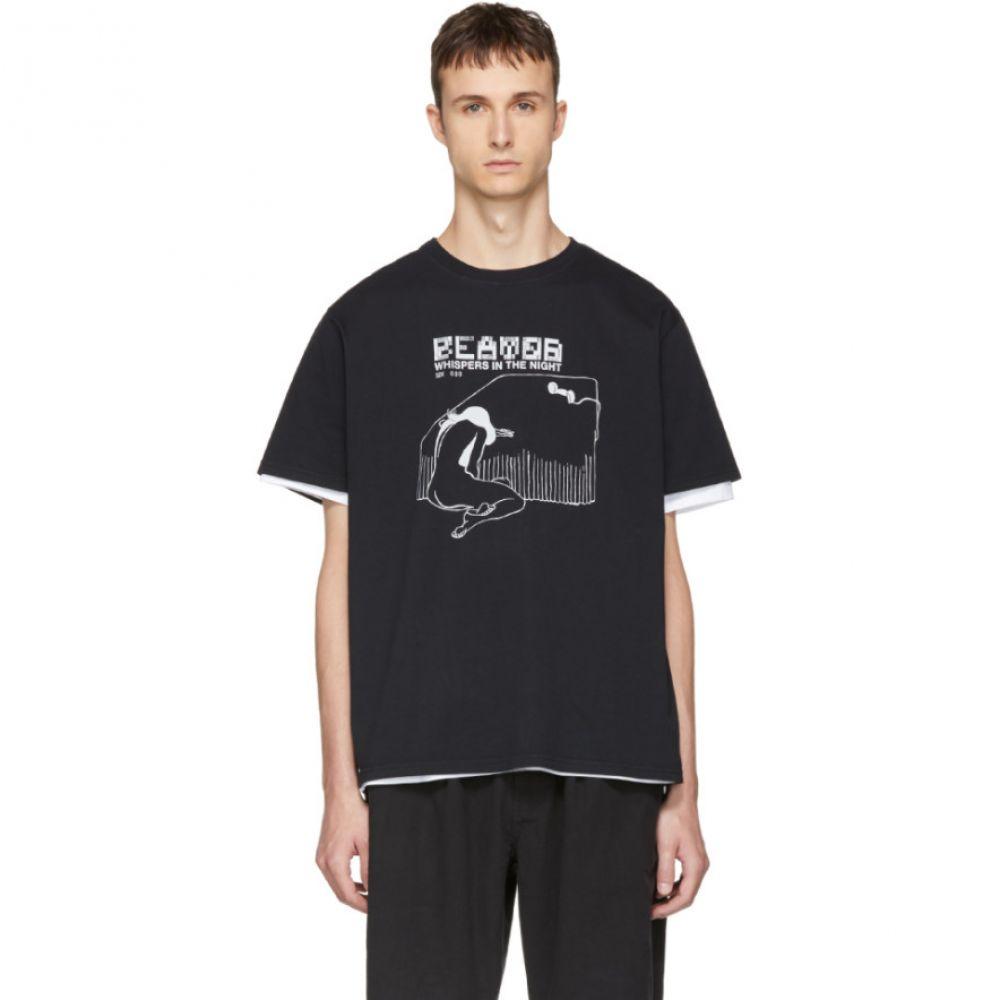 セカンド レイヤー メンズ トップス Tシャツ【Black 'Whispers In The Night' T-Shirt】
