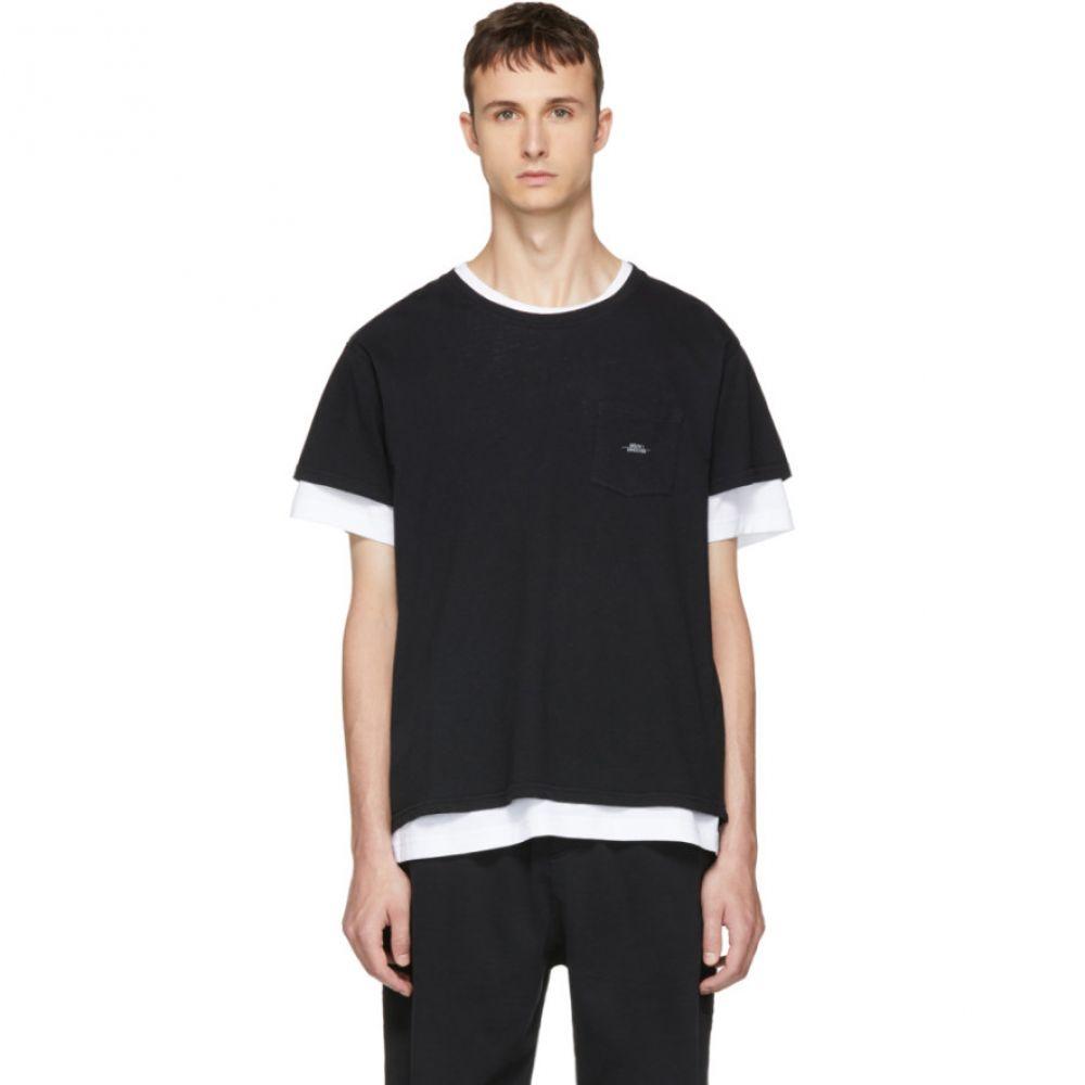 セカンド レイヤー メンズ トップス Tシャツ【Black Spiral Pocket T-Shirt】